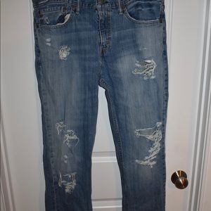 Jeans, Levi's, ripped, slim fit stretched, 34x34